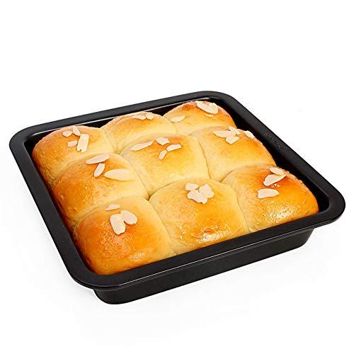 Moldzhu Backform Backblech Haushalt 8 Zoll Antihaft-Kuchenform Brot Backform Backblech Utensilien Schwarz
