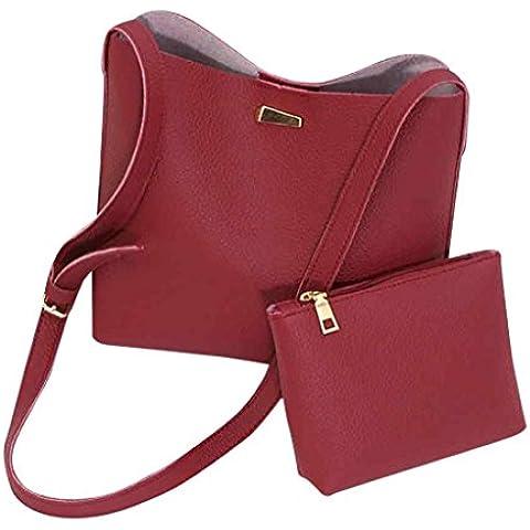 Tongshi 2pc moda mujeres Simple mensajero bolsas bolsas Mini mujeres bolso de hombro
