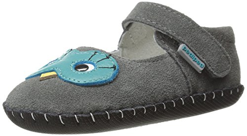 Pediped Originals Jazzie Grey Suede Baby Soft Soles Grey