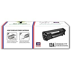AB 12A Black Toner Cartridge Q2612A/ Compatible for HP LaserJet - 1010/ 1012/ 1015/ 1018/ 1020/ 1022/ 1022n/ 3020/ 3030/ 3050/ 3052/ 3055/ M1005/ M1319f
