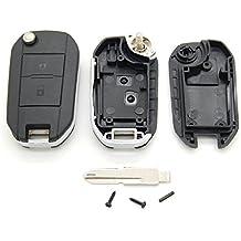 Carcasa para llave con telemando con 2 botones para Peugeot 106, 206 y 306