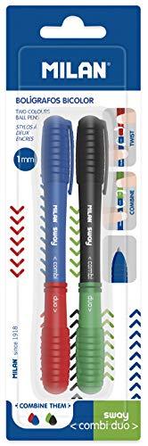 Blister 2 Kugelschreiber Sway Combi Duo, blau-rot und schwarz-grün NEU -