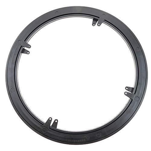 Cablematic Manuelle rotierende drehteller 45 cm schwarz und 100Kg last