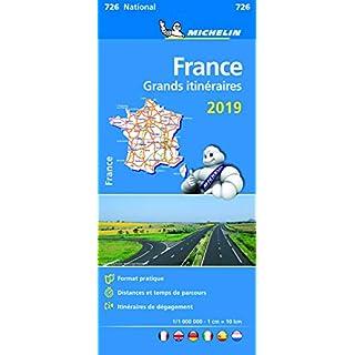 Michelin Frankreich Fernrouten 2019: Straßen- und Tourismuskarte 1:1.000.000 (MICHELIN Nationalkarten)