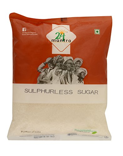 24 Mantra Sulphurless Sugar, 500g  available at amazon for Rs.54