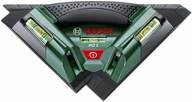 Bosch DIY Fliesenlaser PLT 2, 3x Batterien AA, Universalhalterung (Arbeitsbereich 7 m, +/- 0,5 mm/m Messgenauigkeit)