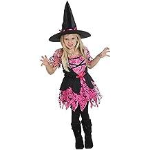 Unbekannt Costume da strega bambino Pinky vestito da strega cappello  rosa nero Carnevale di Halloween c837f3194451