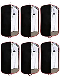 "Demoda Blazer Covers Coat Cover Suit Cover/Garment Covers /Dress Covers /Travel Organizers(Set of 6-38"",Black)"