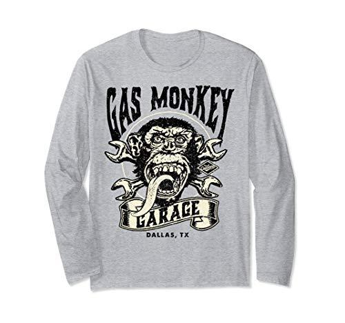 Gas Monkey Garage Tattoo Style Logo Langarmshirt -