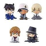BANDAI Detective Conan ChidimaseTai2 Gashapon 5 set mini figure capsule toys