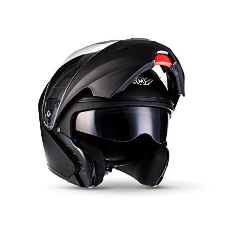MOTO F19 Matt Black · Roller-Helm Klapp-Helm Flip-Up-Helm Scooter-Helm Cruiser Modular-Helm Helmet...