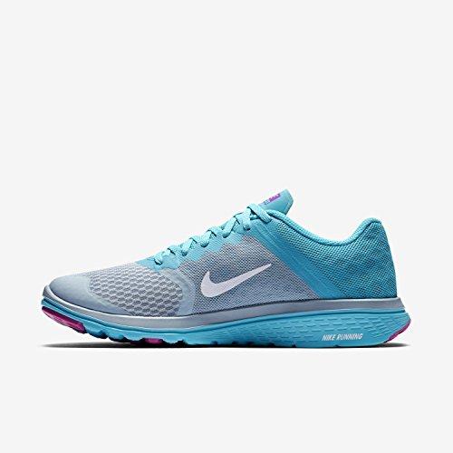 Nike Wmns FS Lite Run 3, Scarpe da Corsa Donna Blu (Blue Grey / Wht-Gmm Bl-Hypr Vlt) (grigio)