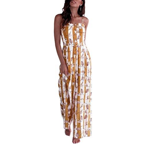 Jumpsuit Damen Sommer LHWY Frauen Sleeveless Streifen Drucken Overall Elegant Beiläufige Clubwear...