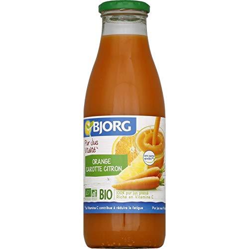 Bjorg - Vitalität Saft orange Karotte Zitrone 75cl - Lot De 3 - Preis pro Los - Schnelle Lieferung - Saft Orange-karotte