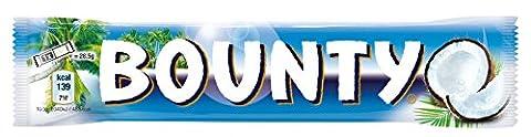 Bounty Barres de Chocolat au Lait/Noix de Coco - 24 lots de 2 barres (57 barres au total) - 1,370 kg