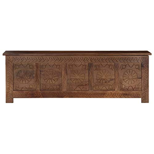 Característica:  Material: Madera maciza de acacia / madera maciza de mango Dimensiones: 120 x 30 x 40 cm (anchura x profundidad x altura) Acabado: Lijado, pintado y barnizado / Pulido y barnizado Con 1 armario