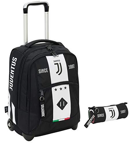 Big Trolley JUVENTUS + Portapenne - Bianco&Nero - Gadget abbinato - 2in1 Spallacci a scomparsa!