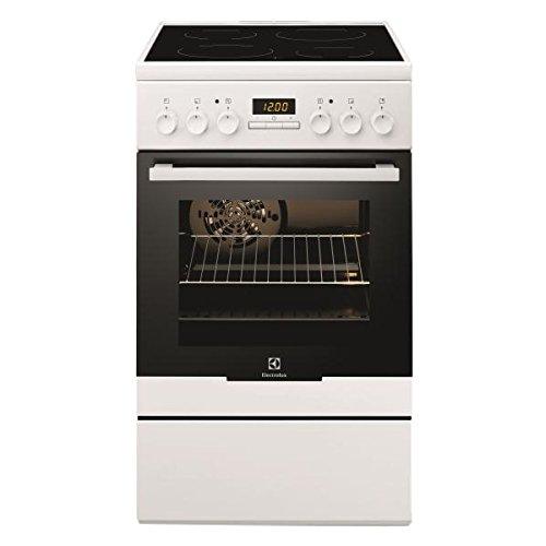 Electrolux EKC54350OW Autonome Céramique A-10% Blanc four et cuisinière - Fours et cuisinières (Cuisinière, Blanc, Rotatif, Devant, Céramique, Moyen)