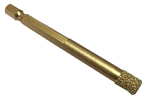 Profi Diamant-Bohrer Fliesenbohrer 8 mm 6Kant Granit Trockenbohrer Marmor Vakuum