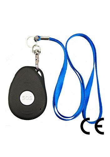 Mobiler Notruf inkl. GPS-Sender NR-02 / Pflege-Set / mit Notfallknopf / Senioren Funk System für unterwegs / inkl. Halsband u. Ladestation / spritzwasserdicht