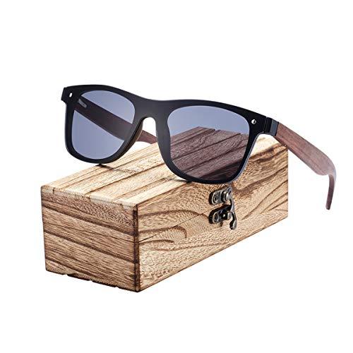 Sport-Sonnenbrillen, Vintage Sonnenbrillen, NEW Fashion Wooden Sunglasses Men Bamboo Temple Sun Glasses Women Wood Glasses Oculos De Sol Masculino Black Walnut Temples