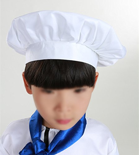 Leisial 1 Pz Cappello da Chef Maschile e Femminile Cuochi Apprentice  Cappello da lavoro per Hotel Restaurant Cafe Cucina del ristorante  occidentale 91ad0f380151
