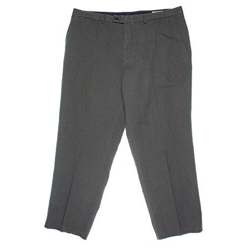 Bloomingdale's Mens Gray Twill Classic Fit Khaki Chino Pants 34/34