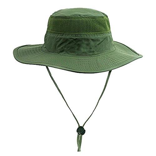 Herren Eimer Hut Dschungelhut Jagd Angeln Außen Breite Krempe Safari Tarnung Sun