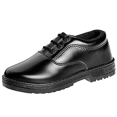 Liberty Boy's Black Formal Shoes