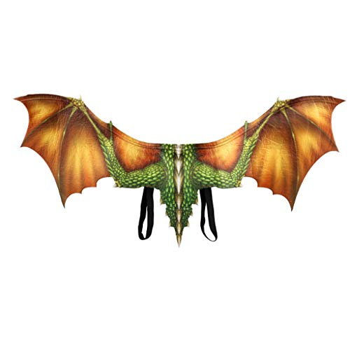 Lazzboy Fantasy Halloween Dinosaurio Drachenkostüm Cosplay Tierflügel Zubehör Halloween Karneval Drachen Kostüm Für Kinder - Flüge(Gelb) (Comic Buch Figur Kostüm Outfit)