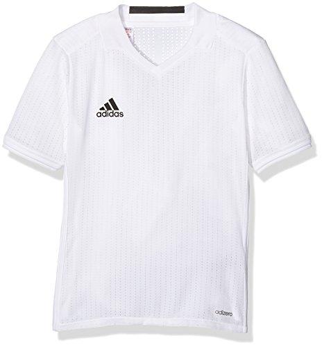 adidas Jungen Condivo 16 Trainingstrikot T-shirt CONDIVO16 Jersey Y, White, Gr. 152 (Herstellergröße: 11-12 Jahre) Condivo 12 Training