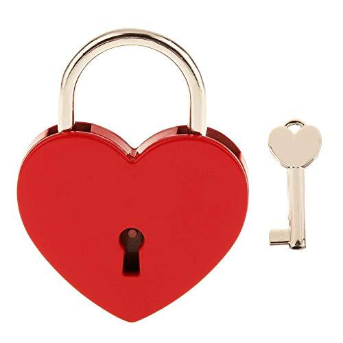 Keyed Lock-set (joizo 1PC Schlüssel Vorhängeschloss Retro Vintage Personalisierte Liebe Schloss Vorhängeschloss Kreative Gepäck Locker Lock Set (Silber))
