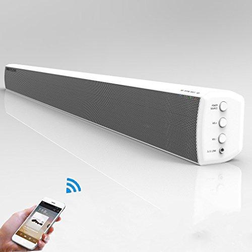 LONPOO 2.0 ch Barra de sonido altavoz para TV, 40 W/Bass Stereo/Bluetooth/óptico/Coxial/AUX/RCA...