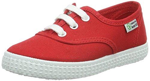 Tênis Liso Mundo Menina Natural 02 rojo Ingles Vermelho Iq87xw