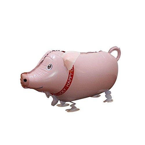 Ballons Haustier Hund Elefant Ente Schwein Air Walkers Geschenk Dekoration Spielzeug Folienballon (Schwein Dekorationen)