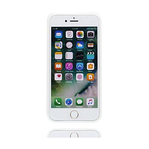 Custodia iPhone 6, Silicone trasparente iPhone 6s copertura Shell Protezione molle sottile del silicone TPU Cover Case Per iPhone 6/6s 4.7 / rosa fiore Color - 3