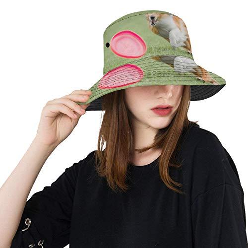 (Enhusk Hund fangen fliegen Scheibe Neue Sommer Unisex Baumwolle Mode Fischerei Sonne Eimer hüte für Kid Teens Frauen und männer mit anpassen top Packable Fischer Kappe für Reise im freien)