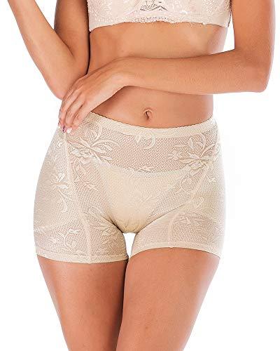 DODOING Damen Padded Panties Miederpants Gepolstert Po Push up Miederhose Butt Lifter Hüfte Enhancer Höschen Polster Spitze Shapewear Unterhosen Hosen