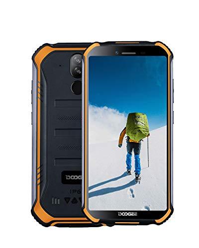 DOOGEE S40 Téléphone Incassable Portable 4G Android 9.0 Smartphone, Double SIM IP68 IP69K Télephone Etanche Antichoc, 32Go ROM + 3Go RAM, Batterie 4650mAh, 5.5 Pouces, Caméras 8MP+5MP, NFC, Orange