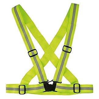 Chaleco reflectante, chaleco de seguridad elástico ajustable para una alta visibilidad en la noche y correr correr andar en bicicleta