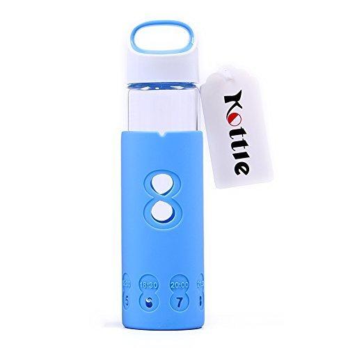 Kottle 13oz botella de agua de vidrio ecológico con funda de silicona