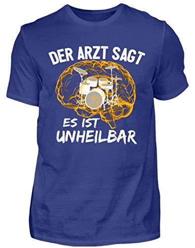 Schlagzeug Shirt · Drummer · Geschenk für Schlagzeuger · Motiv: Es ist unheilbar - Herren Premiumshirt -S-Dunkel Royal - Trommeln Dunklen T-shirt