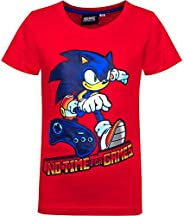 Sonic - Camiseta de manga corta para niño