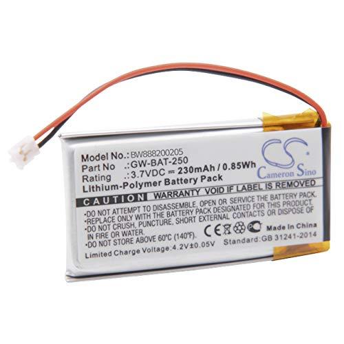 vhbw Akku passend für Vernier Go Wireless Link Elektroden-Verstärker (230mAh, 3.7V, Li-Polymer)