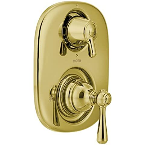 Moen T4111P Kingsley Moentrol with Transfer Valve Trim Tub/Shower Faucet, Polished Brass by Moen