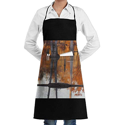Drempad Premium Unisex Schürzen, Swamp Cypress Trees Fashion Waterproof Durable Apron with Pockets for Women Men Chef (Cypress Schürze)