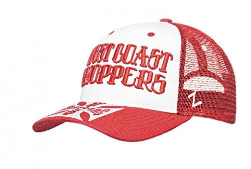 West Coast Choppers Cap Clutch Logo Round Bill Trucker Hat, Farbe:red, Größe:one size -