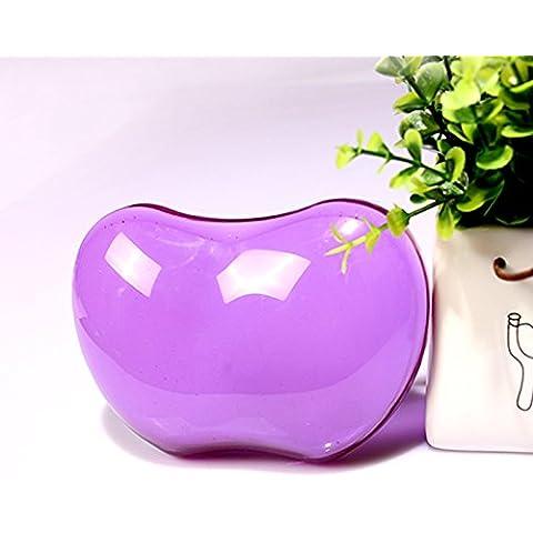 5-LLL-Grande cristallo trasparente in silicone del mouse pad da polso di affaticamento freddo mani nel suo braccialetto di cuscino di mano , transparent purple