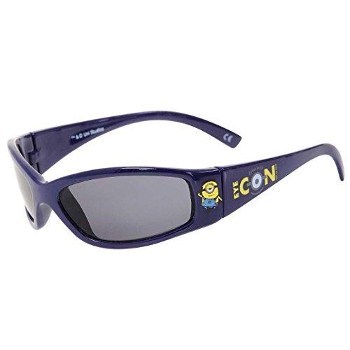Minions modische Jungen Sonnenbrille für coole Kids 100% UV-Schutz, Farbe:dunkelblau, Größe:Einheitsgröße