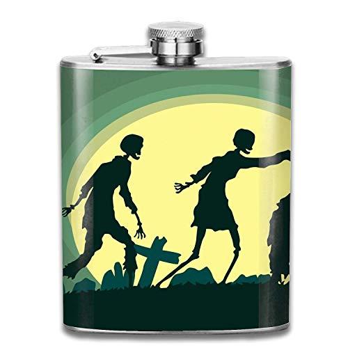 Cool frascos 7oz Halloween Zombies Stainless Steel Groomsman, Bridesmaid Flask